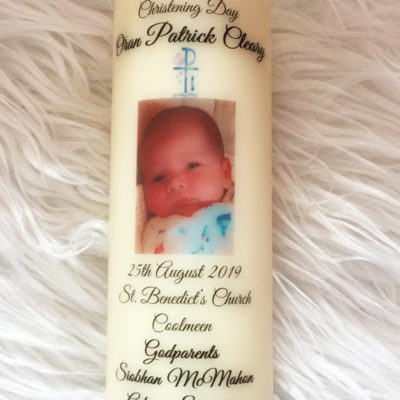 Personalised Christening Candle Clare