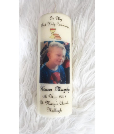 Personalised Communion Candle Clare
