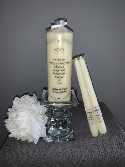 Wedding Candles Personalised Candles Clare