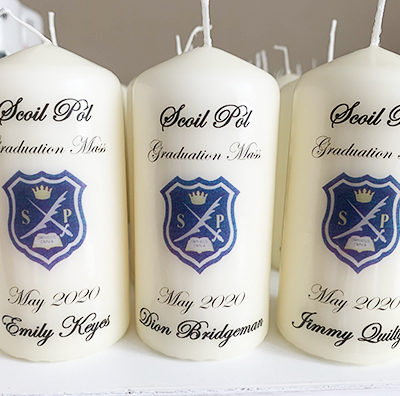Personalised Graduation Candles Clare