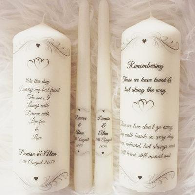 Unity Wedding Memorial Candles Clare