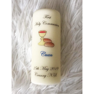 Personalised Confirmation Candle Clare